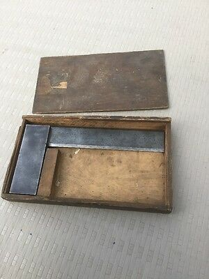 """Pre-owned Vintage Moore & Wright 401 Steel 8"""" Square Made In England"""