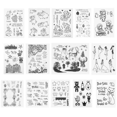 Silicone Clear Rubber Stamps Seal DIY Scrapbooking Album Card Decor Craft Gift
