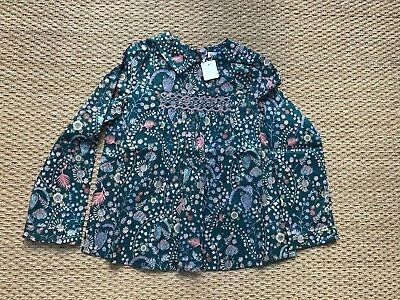 BONPOINT GIRLS BLOUSE 8A Winter 2017 Liberty print Domi top NWT 10Y