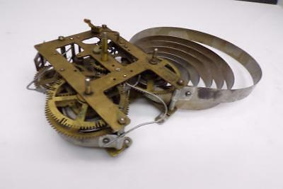 """""""India"""" No Jewel Unadjusted Brass Unsigned Mantle Clock Movement Parts  D676a"""