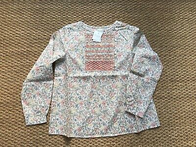BONPOINT brode main Winter 2017 Liberty print Filet top NWT 10Y