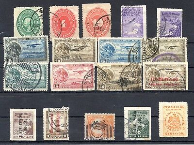Mexiko Mexico - old Lot - 18 Stamps Overprint Überdruck