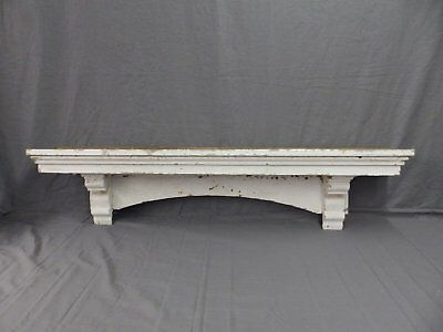 Lrg Antique Window Pediment Header Corbel Shelf Vtg Shabby Victorian Old 481-17P