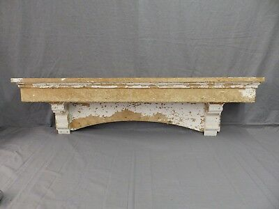 Lrg Antique Window Pediment Header Corbel Shelf Vtg Shabby Victorian Old 485-17P