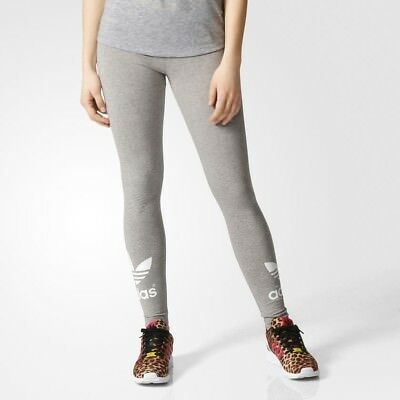Women's Adidas Originals Trefoil Leggings Grey [Z]AJ8150
