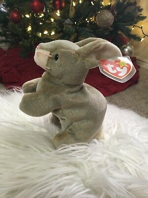 Ty Beanie Baby Nibbly - (Nibbly the Rabbit) EXCELLENT SHAPE FREE SHIPPING