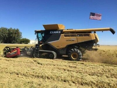 2014 Claas 750 TT Lexion, 25' MacDon Header, Spike Tooth Cyl, etc. CAT C13 CA