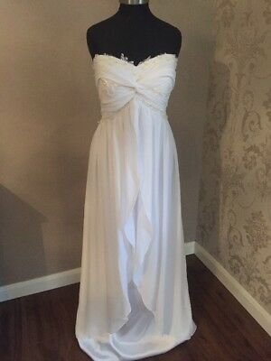 Ethereal White Floaty Beaded Size 18/20 Wedding Dress