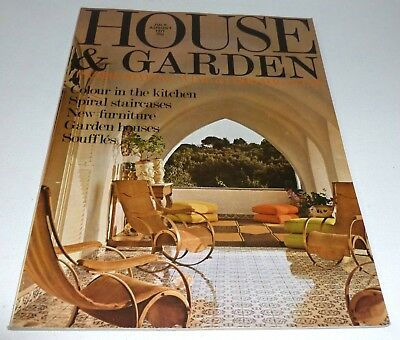 House and Garden VINTAGE RETRO MAGAZINE July / August 1971