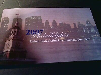 2007 United States Mint Uncirculated Coin Set Philadelphia & Denver
