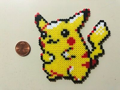 Pikachu Pokemon Mini Bead Sprite Perler Hama Artkal Pixel Art Icon Retro