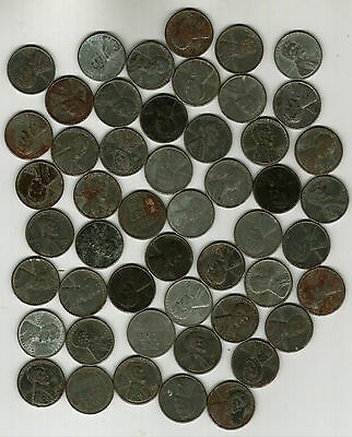 Roll Of 50 1943 Steel Lincoln Pennies
