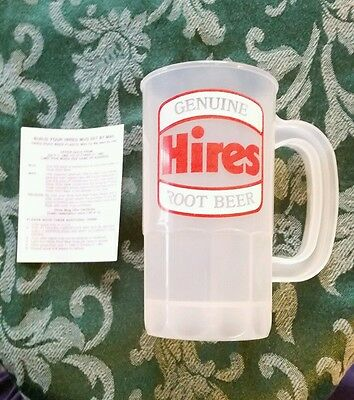 Rare Vintage Hires 1982 NEW OLD STOCK Promotional Give Away Plastic Mug 14 oz.