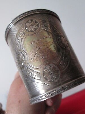 Great 1866 COIN SILVER - PRESENTATION CUP by JOHN WESTERVELT - Newburgh NY