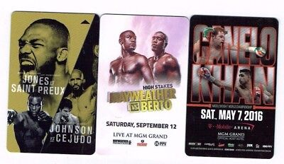 FIGHT Boxing UFC MGM GRAND Las Vegas Room KEYS LOT of 3 -Mayweather CANELO Berto
