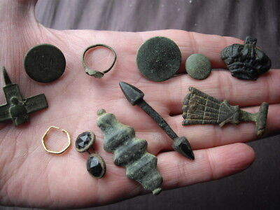 Metal detecting finds & little gold earring