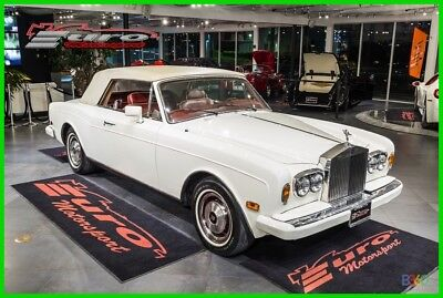 1985 Rolls-Royce Corniche CORNICHE White Over Red Hides only 50k miles fully Serviced PRICED 4 QUICK SALE!