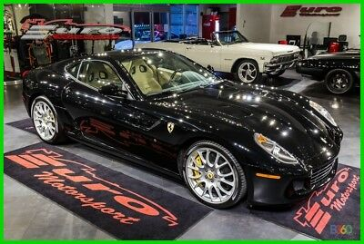 2009 Ferrari 599 GTB LOADED WITH OPTIONS ONLY 8K MILES BLACK OVER CREAM HYDES IMMACULATE ONLY 8K MILES