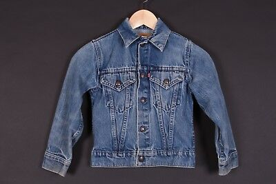Vtg Levis Denim Jean Coat Jacket Youth Size 10 Usa