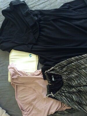 Maternity Clothes , Breastfeeding Clothes Size 10 And Belly Wrap