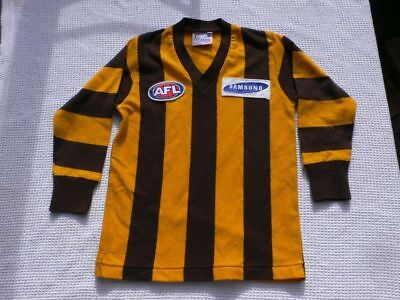 HAWTHORN HAWKS Child Long Sleeve SAMSUNG -  PRE LOVED JUMPER 70-75cm acrylic