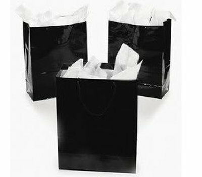 Fun Express Large Black Party Gift Boutique, Bags - 12 Pieces, Free Shipping