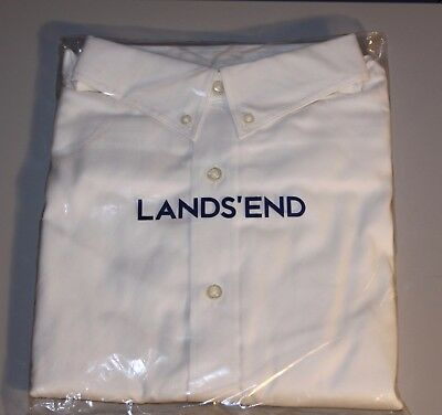 NWT LANDS END Girls 12 White Short Sleeve Oxford Button Up Shirt School Uniform