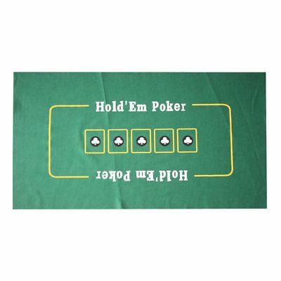 "Portable Cover Sealed Poker Table Top Green Mat Pad Blackjack 24"" x 36"" Holdem"