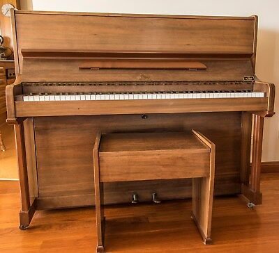 Australian-made Beale upright piano in good condition, with stool