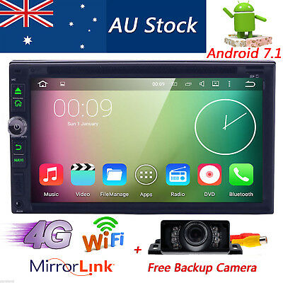 """7"""" 2DIN Android 7.1 Car DVD Player GPS Stereo Head Unit BT 4G Wifi+AU Map+Camera"""