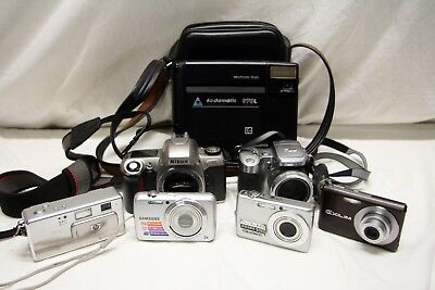 Lot Of Cameras Nikon Kodak Samsung Casio hp not tested