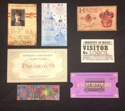 Harry Potter Christmas Stocking Stuffer Hogwarts ID Express Ticket Party Prop ++
