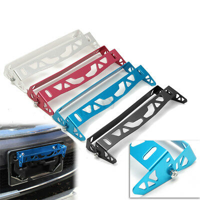 Universal Car Bumper Tilt License Number Plate Mount Holder Bracket Aluminum AU