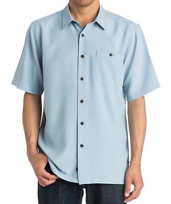Quiksilver NEW Blue Mens US Size Small S Short-Sleeve Button Down Shirt $60 083