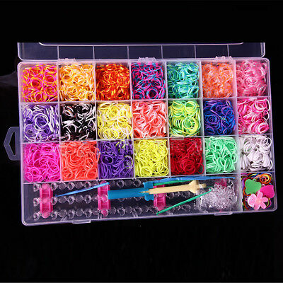 4400pcs Rubber Band Bracelet Refill Kit - Rainbow Loom Bands Colorful + DIY TOOL