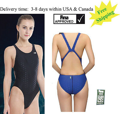 Yingfa921 one piece racing & training swimsuit for women FINA Free shipping
