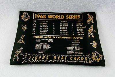 1968 World Series Commemorative Plate-Detroit Tigers, Lolich Beat Cards