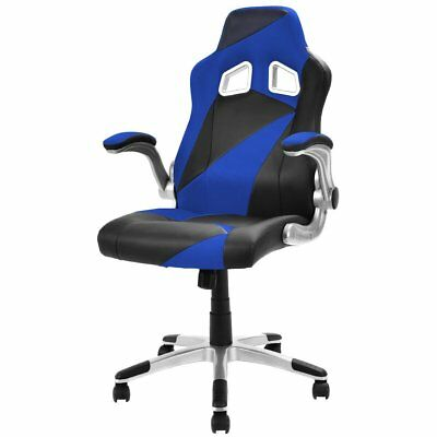 Executive Racing Chair PU Leather Bucket Seat Gaming Chair Desk Task Computer,