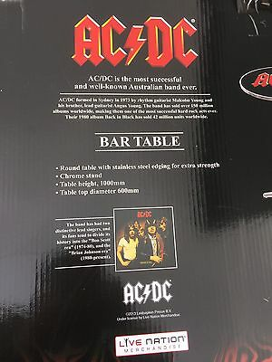 Acdc Bar Table New In Box Man Cave Pool Room Music Beer