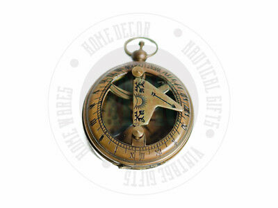 New  Maritime Compass Antique Brass Nautical Compass With Leather Case