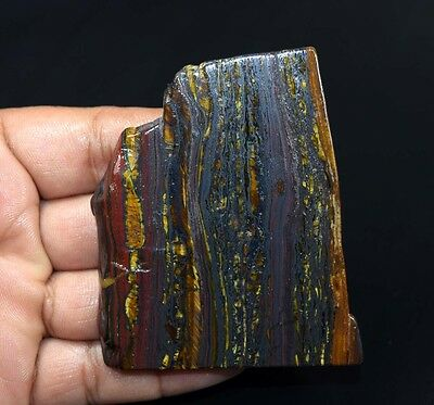 387.50 Cts. 100% Natural Multi Iron Tiger Slice For Making Cabochons