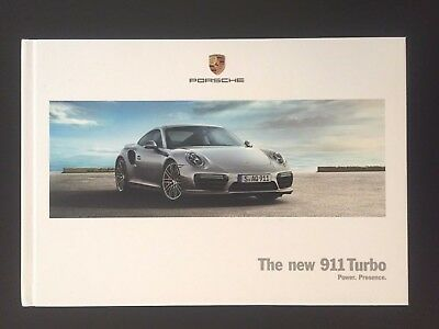2017 2018 Porsche 911 Turbo S & Turbo Exclusive Hardbound Brochure