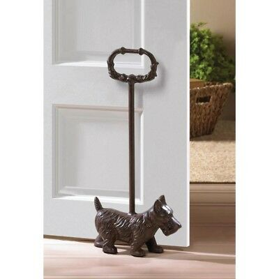 Cast Iron Doggy Door Stopper With Handle New!
