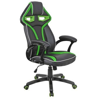 Office High Back Racing Bucket Seat Computer Desk Task Chair Swivel Gaming Chair