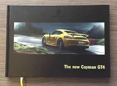PORSCHE GT4 BROCHURE Hardcover USA EDITION NEW Cayman GT