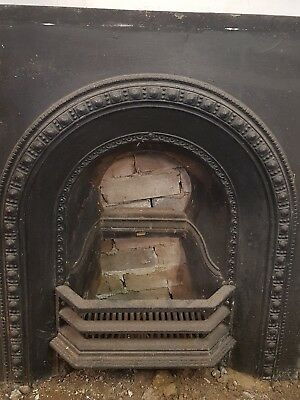 Antique Fireplace with Hardwood Mantel