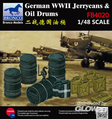 Bronco Models FB4020 WWII German Jerry Can  Fuel Drum in 1:48