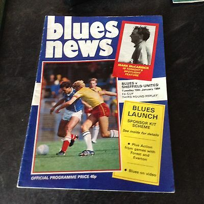 Birmingham City V Sheffield United 10/1/84  F A Cup Rd3 Replay With One Autograh
