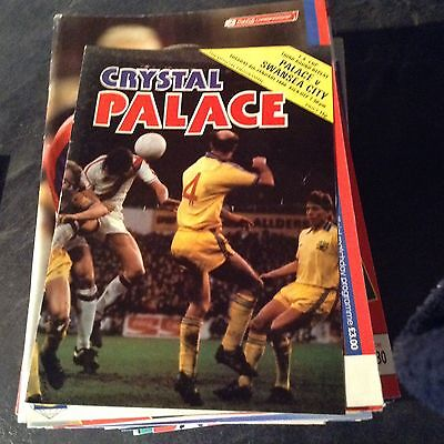 Crystal Palace V Swansea City. 8/1/80. F A Cup Rd3 Replay