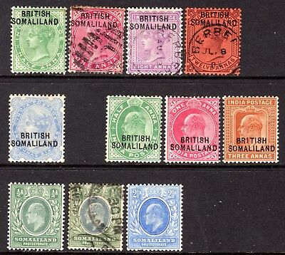 Somaliland Small Selection QV-KEVII  M/Mint/Used